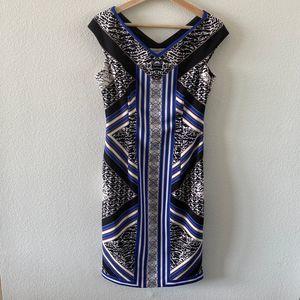 Maggy London Blue Midi Dress (6)